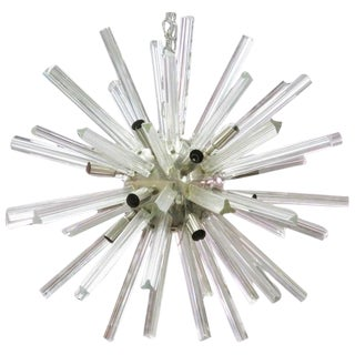 Italian Modern Chrome & Glass Sputnik Chandelier