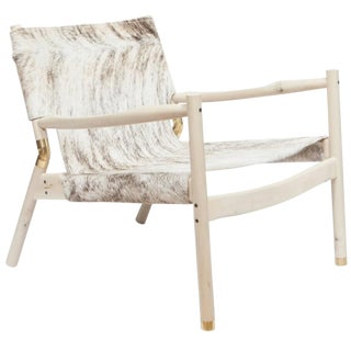 Customizable Erickson Aesthetics Slung Brindle Hide Holly Lounge Chair