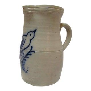 Beaumont York Me Stoneware Blue Salt Glaze Pitcher
