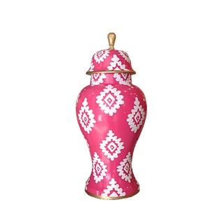 Dana Gibson Pink Block Print Jar