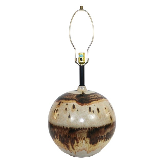 Image of Overscale Mid-Century Raymor Pottery Lamp