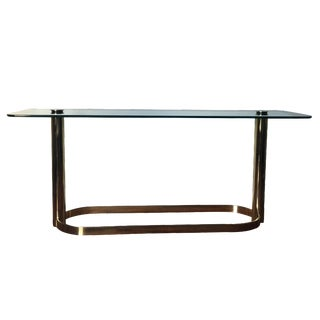 Pace Brass and Glass Console Table