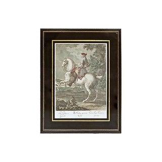 Antique 18th Century Cavalier Engraving