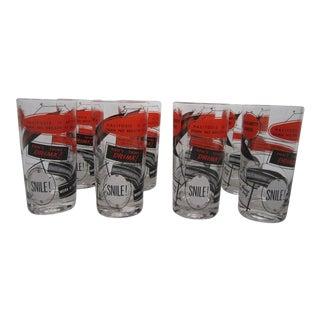 Vintage Gay Fad Cocktail Glasses - Set of 8