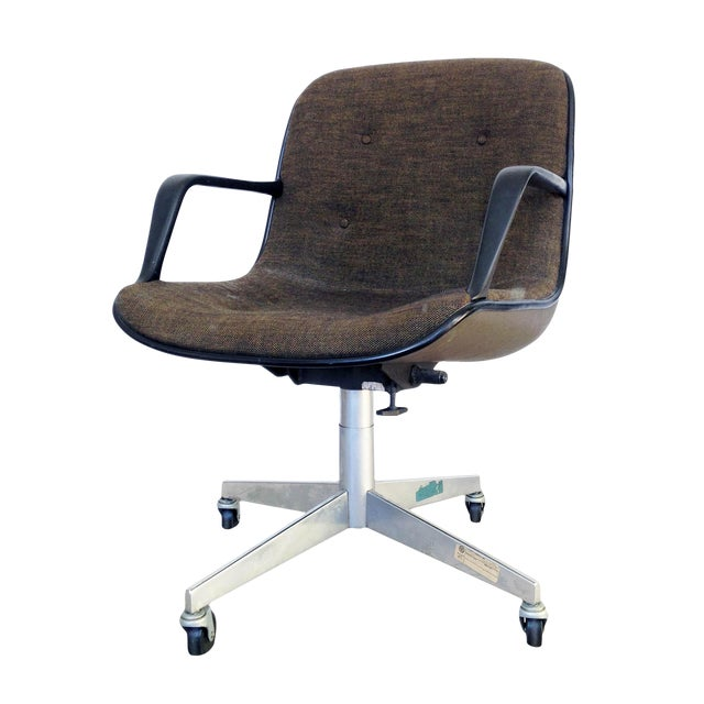 Charles Pollock for Knoll Tweed Office Chair - Image 1 of 6