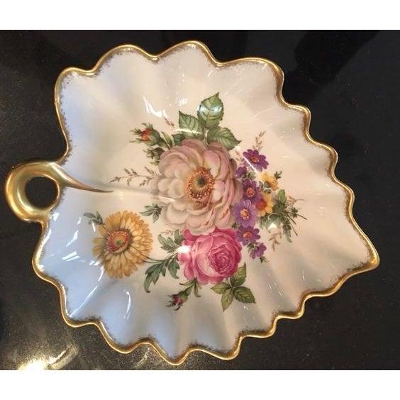 """Limoges France Leaf Bowl """"Pocelaine D'Art"""" - Image 2 of 3"""