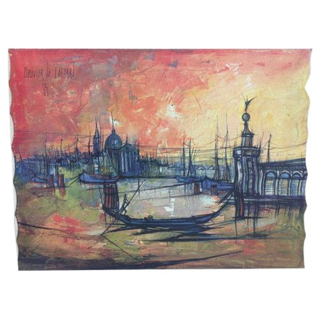 Bouvier De Cachard Reproduction Venice at Sunset - Image 1 of 6