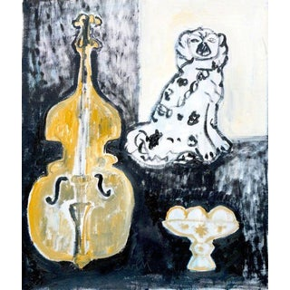 Anne-Louise Ewen Still Life With Upright Oil Painting