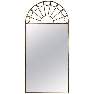 Mastercraft, Neoclassical, Palladian Style Brass-fretwork-mirror