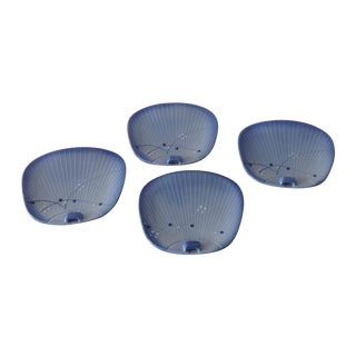 Asian Dim-Sum Fan-Shaped Dishes, Set of 4
