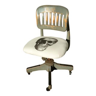 Skull Upholstered Vintage Sikes Industrial Office Chair