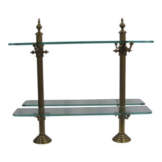 French Brass, Marble & Glass Pastry Stand