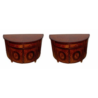 Demilune Console Tables - a Pair