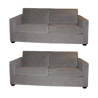 Gray West Elm Sofas - A Pair