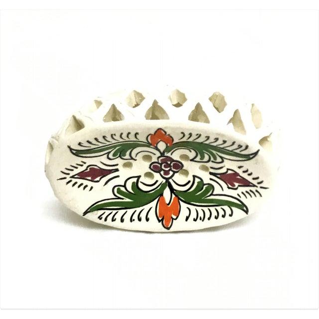 Handpainted Moroccan Ceramic Soap Dish - Image 2 of 3