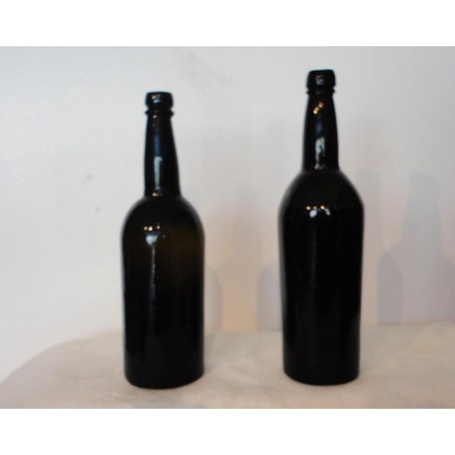 Fantastic Early 19thc Collection of Olive Green Bitters Bottles - Image 3 of 9