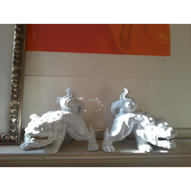 Mid-Century Foo Dogs, Porcelain, Hollywood Regency - Image 9 of 10