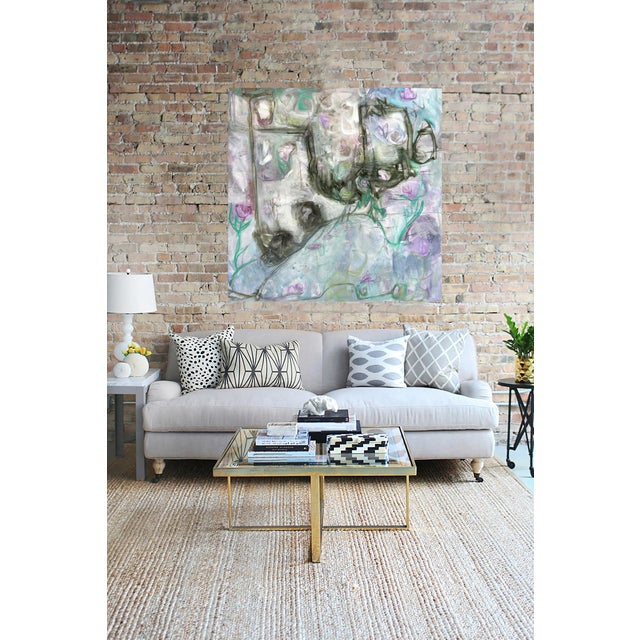 "Trixie Pitts's ""Monkey Business"" Large Abstract Painting - Image 5 of 6"