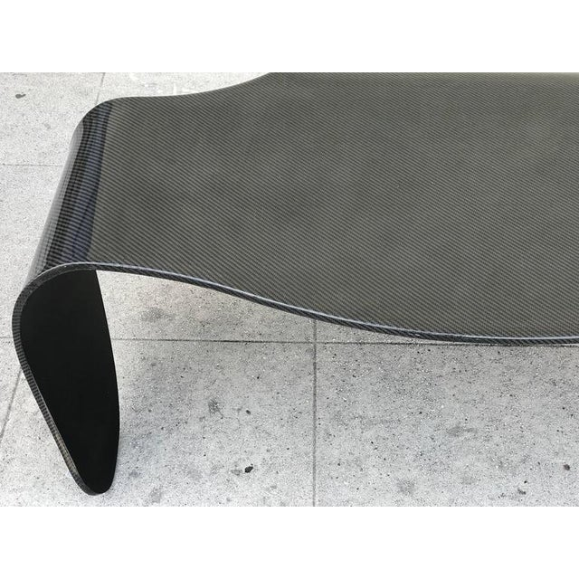 Image of Unusual Zebra Finish Waterfall Fiberglass Coffee Table