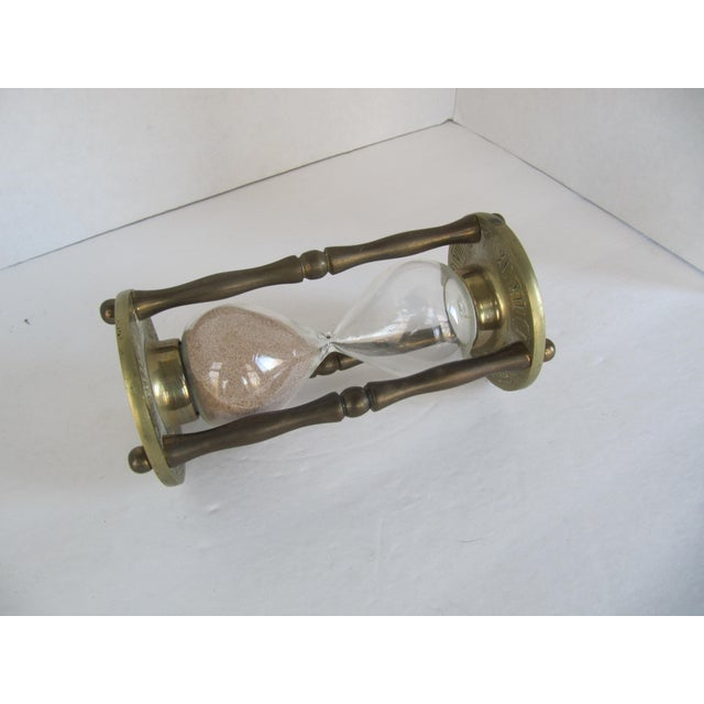 Vintage Brass Zodiac Hour Glass - Image 4 of 6