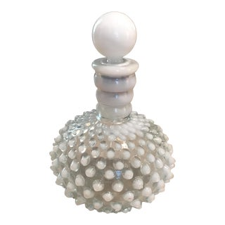 White Hobnail Barber Bottle