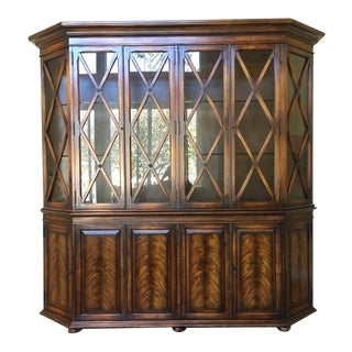 Hickory White Glass Front China Cabinet