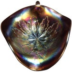 Image of Dugan Electric Amethyst Carnival Glass Candy Dish
