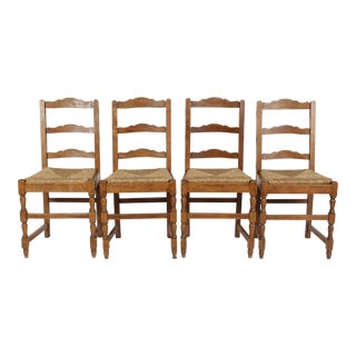 French Country Rush Dining Chairs - 4