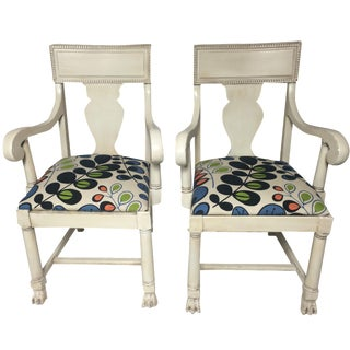 Restored Empire Chairs - A Pair