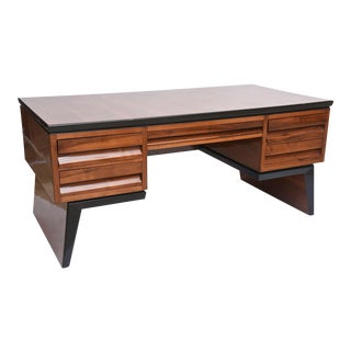Fine Italian Modern Walnut Executive Desk, Borsani
