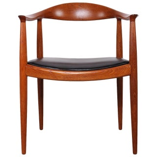 Oak Round Chair by Hans Wegner for Johannes Hansen