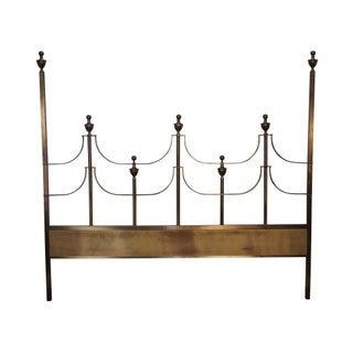 Mastercraft Hollywood Regency Brass King Size Headboard