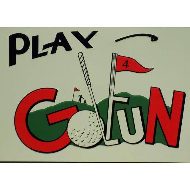 "Vintage ""Play Golfun"" Metal Sign - Image 3 of 5"