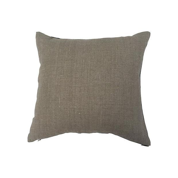 African Grey Tie Dye Mud Cloth Pillows - A Pair - Image 4 of 5