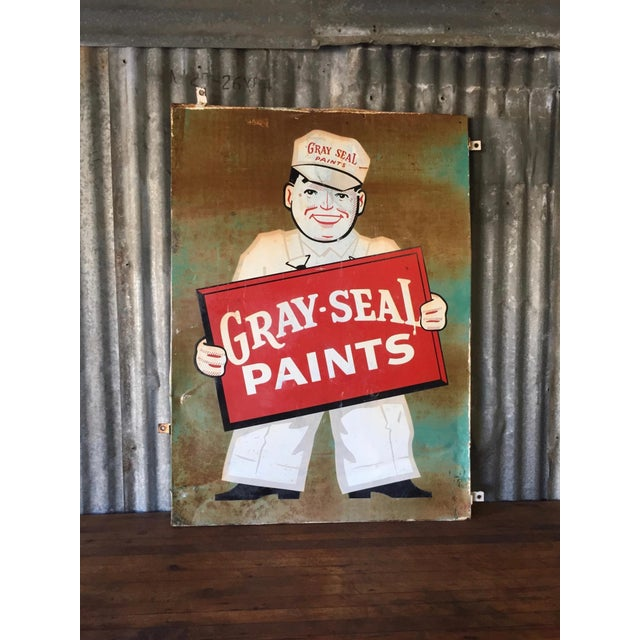 Vintage Original Gray-Seal Paints Sign - Image 10 of 10