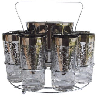 Kimiko Guardian Crest Glasses & Ice Bucket Caddy