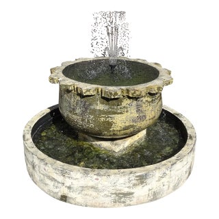 Thai Sunflower Earthware Fountain