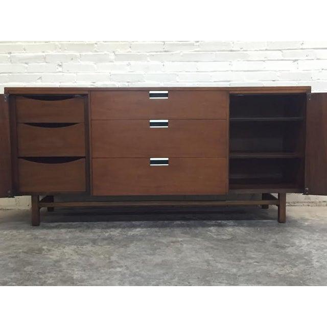 Walnut Mid-Century Modern Dresser & Mirror - Image 7 of 11