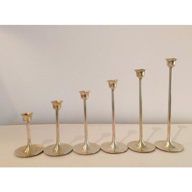 Slender Brass Candlesticks - Set of 6 - Image 4 of 8