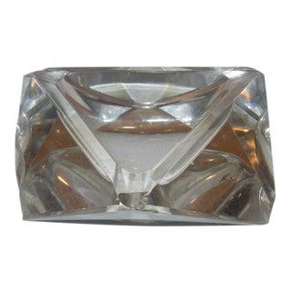 Art Deco Cut Glass Ashtray