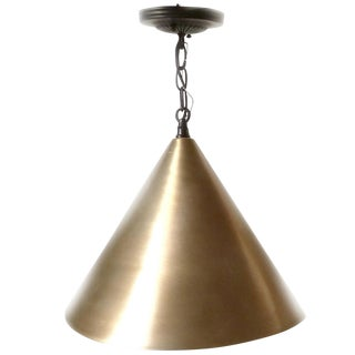Vintage Brushed Gold Cone Hanging Light