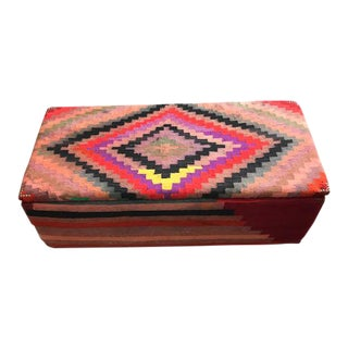 Turkish Kilim Blanket Chest