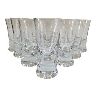 "Vintage Monogram ""V"" Shot Glasses - Set of 10"