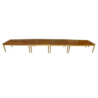 Danish Teak Four-Section Boat Style Conference Table