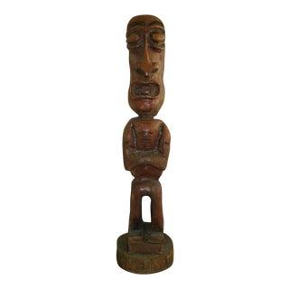 Carved Tiki Garden Statue