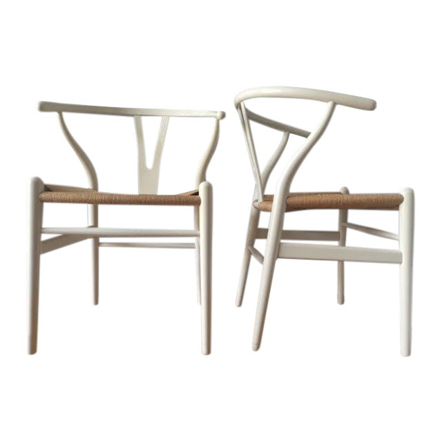Hans Wegner Wishbone Chairs- A Pair - Image 1 of 5