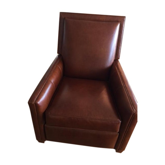 Ethan Allen Randall Leather Recliner | Chairish