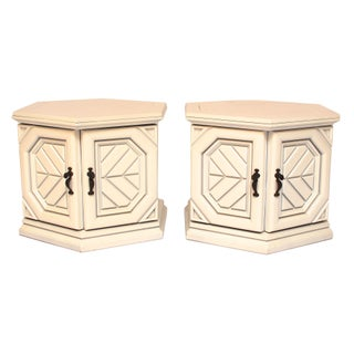 Mid-Century Modern Hexagonal Side Tables