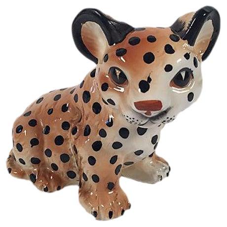 Ceramic Leopard Cub - Image 1 of 5