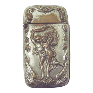 Art Nouveau Match Safe or Vesta